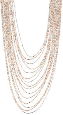 Made In Italy 2 Tone Sterling Silver Diamond Cut Necklace