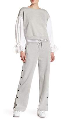 Romeo & Juliet Couture Snap Button Sweatpants