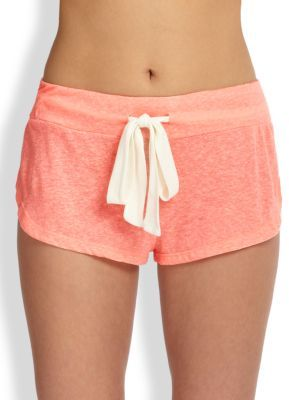 Eberjey Heather Drawstring Shorts $46 thestylecure.com