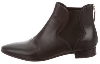 pradaPrada Leather Pointed-Toe Ankle Boots
