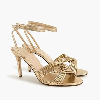 J.Crew Metallic gold strappy heels