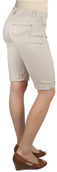 Ethyl Twill Bermuda Shorts - Rolled Cuffs (For Women)