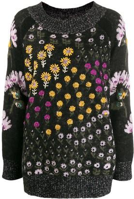 Twin-Set floral intarsia knit jumper