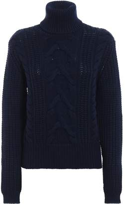 Jacob Cohen Warm And Soft Braided Wool Turtle Neck Pull
