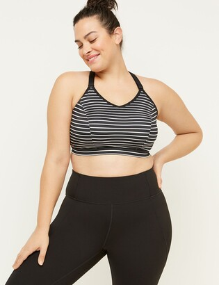 Lane Bryant Medium-Impact Wicking Sport Bra - Strappy Back