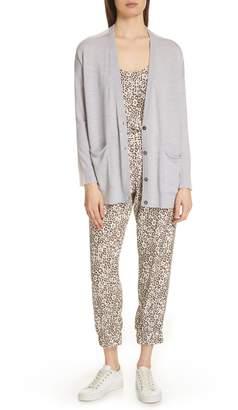 ATM Anthony Thomas Melillo Lunar Leopard Print Silk Pants
