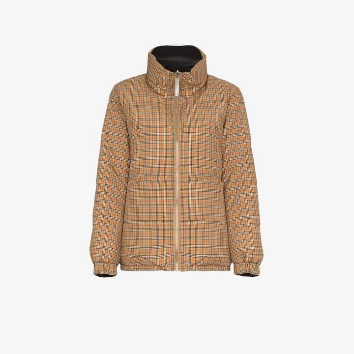 Vintage Check reversible puffer jacket