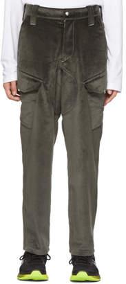 Affix Grey Velvet Service Pants