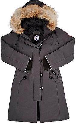 Canada Goose Brittannia Coyote Fur-Trimmed Coat $575 thestylecure.com