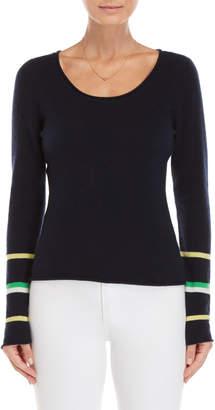 Brodie Navy Stripe Cashmere Sweater