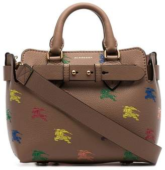 Burberry The Mini Equestrian Knight Leather Belt Bag