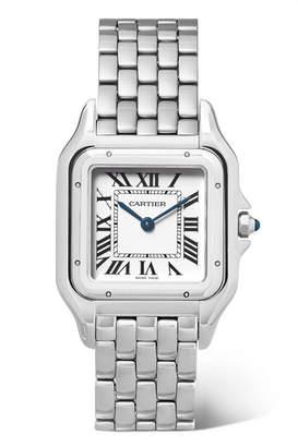 Cartier Panthère De 27mm Medium Stainless Steel Watch - Silver