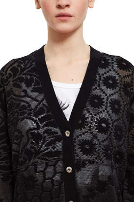 Opening Ceremony Floral Patchwork Jacquard Cardigan