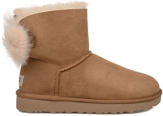 UGG Chestnut Fluff Bow Mini Low Boot