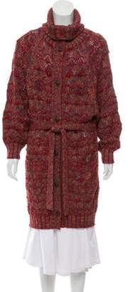 Duro Olowu Longline Button-Up Cardigan Red Longline Button-Up Cardigan