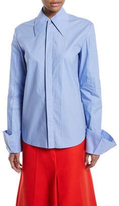 Awake Strict Flared-Cuff Button-Down Long-Sleeve Cotton Shirt