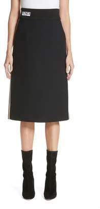 Fendi Wool & Silk Gazar Pencil Skirt