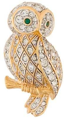 Susan Caplan Vintage D'Orlan owl brooch