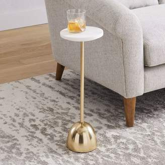 west elm Marble + Brass Drink Table - Round