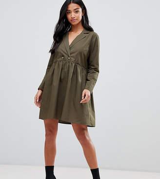 Asos DESIGN Petite cotton smock mini dress