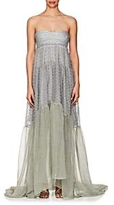 Missoni Women's Metallic Knit Strapless Gown - Silver
