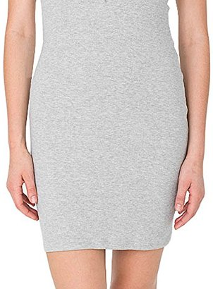 American Apparel Women's 2x1 Short Sleeve Henley Rib Dress $36.18 thestylecure.com