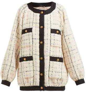 Gucci Balloon Sleeve Boucle Tweed Jacket - Womens - Ivory Multi