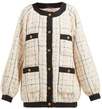 Gucci Balloon Sleeve Boucle Tweed Jacket - Womens - Ivory Multi