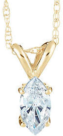 Affinity Diamond Jewelry Marquise Diamond Pendant, 14K Yellow Gold, 1 ct, by Affinity