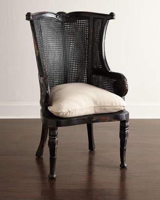Cypris Noir Cane Chairs Pair