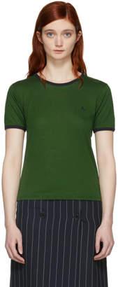 ALEXACHUNG Green Fine Baby Rib T-Shirt
