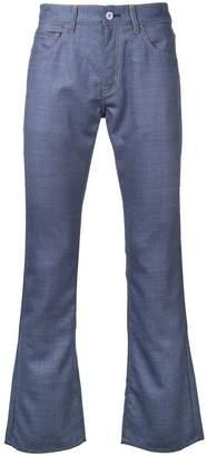 Junya Watanabe contrast pockets bootcut jeans