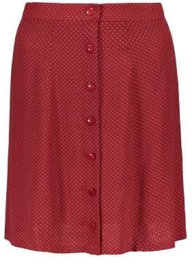 Des Petits Hauts Torre Dot Print Viscose Vrepe Skirt