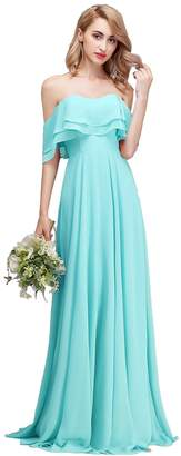 CLOTHKNOW Strapless Bridesmaid Dresses Long for Women Wedding Party