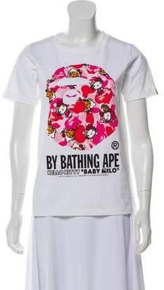 A Bathing Ape Short Sleeve Graphic Print Top