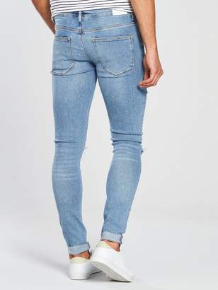 River Island PacMan Ripped SuperSkinny Jeans
