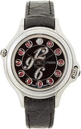 Fendi F104031011D1T04 Silver-Tone & Black Crazy Carats Watch