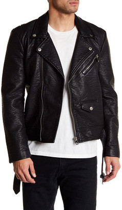 ELEVENPARIS Rayam Faux Leather Moto Jacket $295 thestylecure.com
