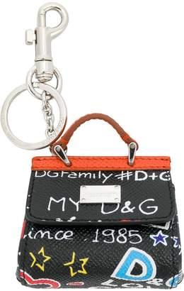 Dolce & Gabbana bag motif keychain