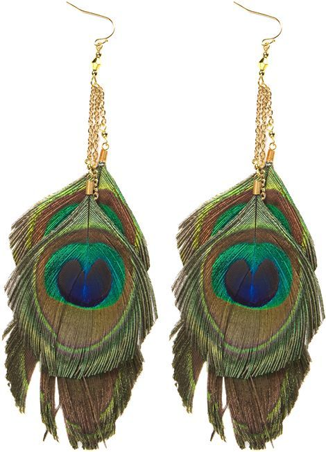 Zad Triple Peacock Earrings