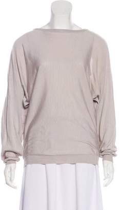 MM6 MAISON MARGIELA Silk Long Sleeve Top