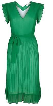 Sandro Pleated Midi Dress
