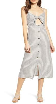 Bishop + Young Stripe Front Tie Midi Sundress