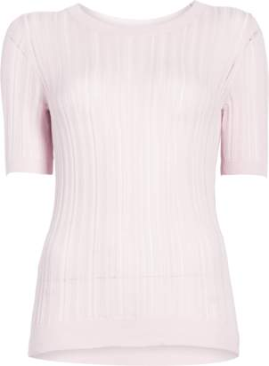Cushnie et Ochs Short Sleeved Crew Neck Sweater