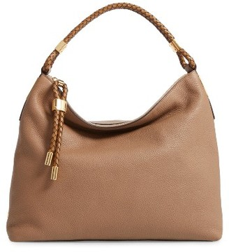 Michael Kors 'Large Skorpios' Leather Hobo - Brown $890 thestylecure.com