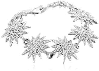Kenneth Jay Lane Silver and Starburst Bracelet