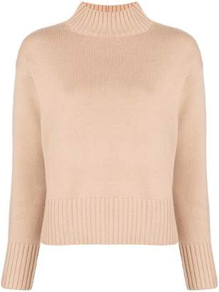 Yves Salomon fur elbow patch sweater