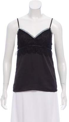 The Kooples Sleeveless Lace-Accented Top