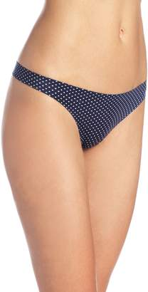 Maidenform Women's Comfort Devotion Thong Panty, Navy/White Dot