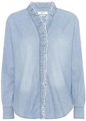 Etoile Isabel Marant Isabel Marant, Étoile Lawendy cotton chambray shirt